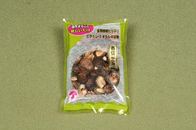 日本産原木乾椎茸 香信中小混100g
