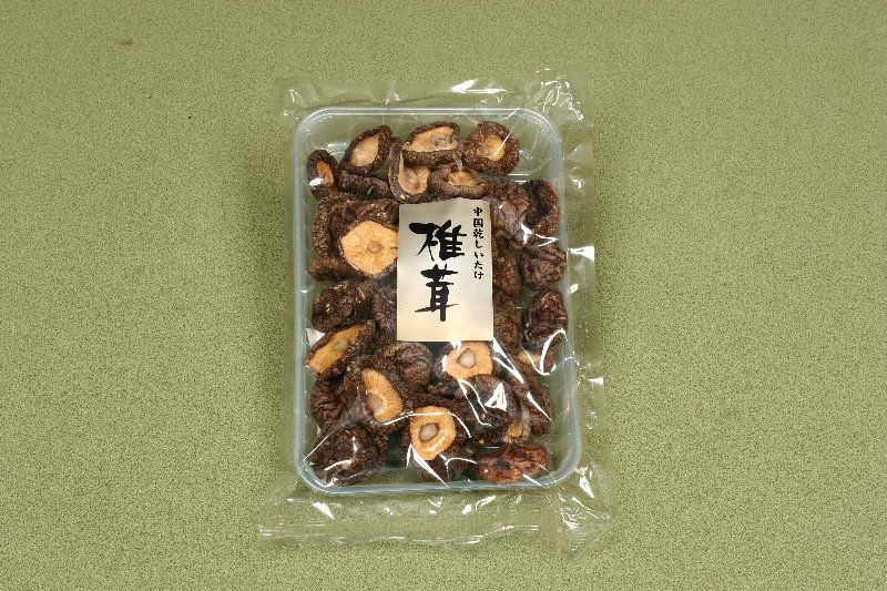 中国産菌床乾椎茸 光面足切厚菇100g