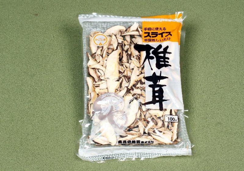 中国産菌床乾椎茸 生切スライス100g